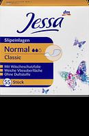Ежедневные гигиенические прокладки Jessa Classic Normal-2 капли, 55 шт.