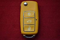 Ключ Volkswagen t4, t5, caddy выкидной корпус влагонепроницаемый
