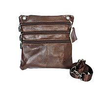 Мужская компактная сумка из натуральной кожи (076)