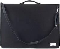 Папка-портфель пласт. PROFEIONL с 6-ю кольцами, А2, черный