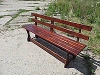 Скамейка для дачи, лавка деревянная, садовая лавочка, скамья со спинкой, садовые скамейки, купить лавку