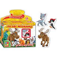 Развивающая игра, набор тематических магнитов Мой маленький мир Лесные жители Vladi Toys VT 3101-04