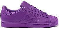 Женские кроссовки Adidas Superstar (Адидас Суперстар) фиолетовые