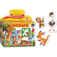 Развивающая игра, набор тематических магнитов Мой маленький мир Зоопарк Vladi Toys VT 3101-05