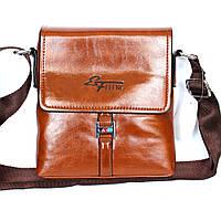 Мужская современная сумка рыжего цвета (Е-117)