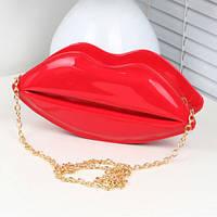 Сумка на цепочке Красные Губы Red Lips