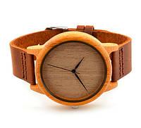 Деревянные женские часы циферблат из дерева для женщин кожаный ремешок копии