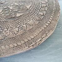 Тарелка Ohaina ручной работы кружево 25см керамика цвет кофе