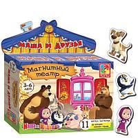 Развивающая игра на магнитах Магнитный театр Маша и Медведь Маша и друзья Vladi Toys VT 3206-18