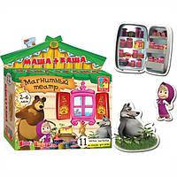 Развивающая игра на магнитах Магнитный театр Маша и Медведь Маша + Каша Vladi Toys VT 3206-06