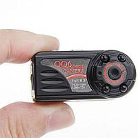 Мини камера QQ6, качество HD 1080p с ночной подсветкой и датчиком движения