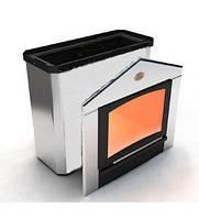 Печь для сауны «Горизонталь» с нержавеющим кожухом (ПКС-04)