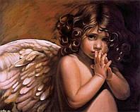 """Картина по номерам «Идейка» (КН295) художественный творческий набор """"Ангел"""" (Нэнси Ноэль), 50x40 см"""