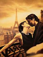 """Картина по номерам «Идейка» (КНО045) художественный творческий набор """"Поцелуй в Париже"""", 40x50 см"""