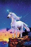 """Картина по номерам «Идейка» (КН309) художественный творческий набор """"Единорог на скале"""", 40x50 см"""