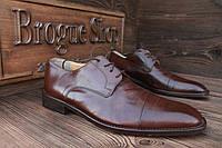 Мужские классические туфли Zara кожанные, 26,5 см, 41,5 размер.Код: 062