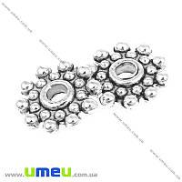 Бусина-разделитель мет., 8х2 мм, Античное серебро, 1 шт (BUS-001134)