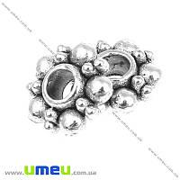 Бусина-разделитель мет., 6х2 мм, Античное серебро, 1 шт (BUS-004954)