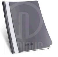 Папка-швидкозшивач ECONOMIX 31511-01 А4 без перфор. проз. верх, пластик. ЧОРНА (10/300) 74460 Ч