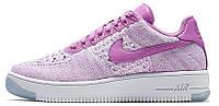 Женские кроссовки Nike Air Force 1 Ultra Flyknit (найк аир форс низкие) фиолетовые