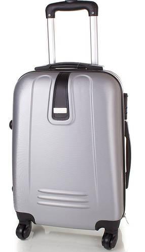 Большой серый прочный чемодан на 4-х колесах, 78,2 л.  GRAVITT (ГРАВИТ) DS602L-9