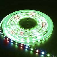 Лента светодиодная FERON LS607/ SANAN LED-RL 60SMD(5050)/m 14,4W/m 12V 5m*10*0.22mm RGB на беломIP65