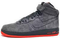 Мужские кроссовки Nike Air Force 1 High (найк аир форс высокие) серые