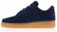 Мужские кроссовки Nike Air Force 1 (найк аир форс низкие) синие