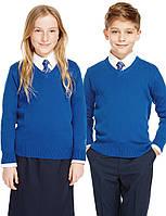 Джемпер школьный синий для девочки Хлопок 100% George (Aнглия)