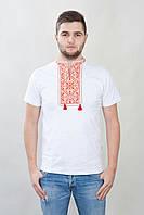 Красивая мужская вышиванка на короткий рукав