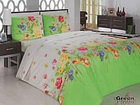 Комплект постельного белья двуспальный 175х210 Classi Gardenia зеленый