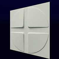 3d панели из гипса Скаты-круг 500х500х25мм