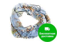 Лучший корпоративный подарок к праздникам шарф крепдишин VENERA (ВЕНЕРА) C270025-blue