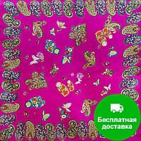 Лучший корпоративный подарок к праздникам шелковый платок шейный женский CODELLO (КОДЕЛЛО) C270097-violet