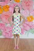 Детское летнее платье со звездочками 116-140