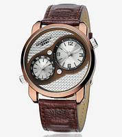 Наручные мужские часы Eyki Overfly two time zone lather Белые