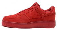 Мужские кроссовки Nike Air Force 1 Low (найк аир форс низкие) красные