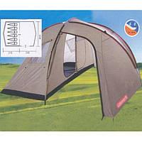 Двухкомнатная палатка с большим тамбуром