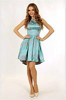 Платье из жаккарда с объемной юбкой, р. 34, 36, 38,  2 цвета