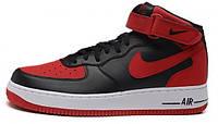Мужские кроссовки Nike Air Force (найк аир форс высокие) красные