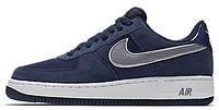 Мужские кроссовки Nike Air Force (найк аир форсы низкие) синие