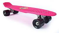 Пенни Борд «Розовый» 22″ Черные Колеса / пенниборд скейт (penny board), скейтборд