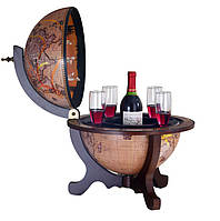 Круглый настольный глобус-бар