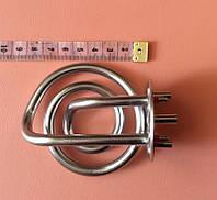Тэн для электрочайников Tefal 1850W-2200W / 220V-240V из нержавейки (хромированный) с БОРТИКОМ на фланце