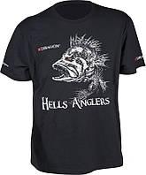 Футболка Hells Anglers ОКУНЬ черн Dragon