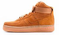 Мужские кроссовки Nike Air Force 1 (найк аир форс высокие) желтые