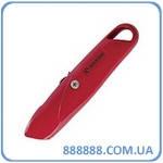Нож с выдвижным трапециевидным лезвием металлический корпус HT-0505 Intertool