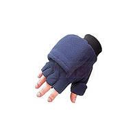 Перчатки-рукавицы Jaxon  флис.  синие