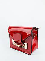 Сумка женская красная лаковая (03-010)