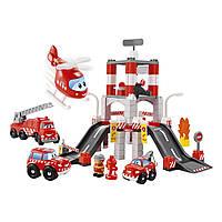 Конструкторы «Ecoiffier» (3039) Пожарная станция с вертолётом